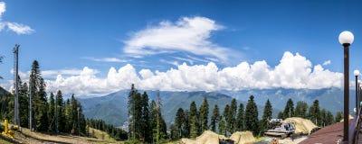 Het panorama van het berglandschap Royalty-vrije Stock Afbeeldingen