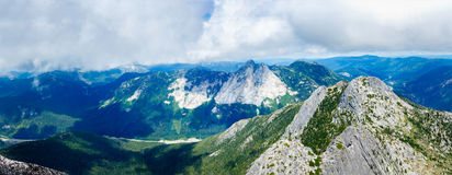 Het panorama van het berglandschap Stock Foto