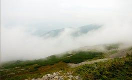 Het panorama van het berglandschap, schoonheid van aard Stock Foto's