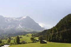 Het Panorama van het berglandschap. Zwitserland Royalty-vrije Stock Afbeeldingen