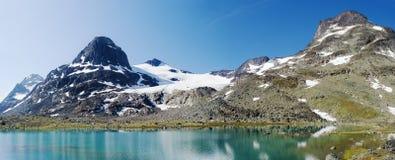 Het panorama van het bergmeer Stock Afbeelding