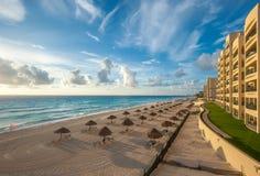 Het panorama van het Cancunstrand, Mexico Royalty-vrije Stock Afbeelding