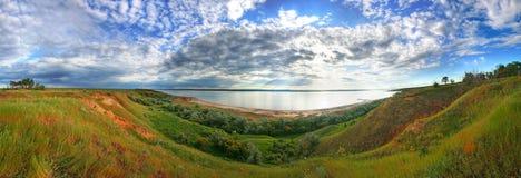 Het panorama van het estuarium Stock Foto's