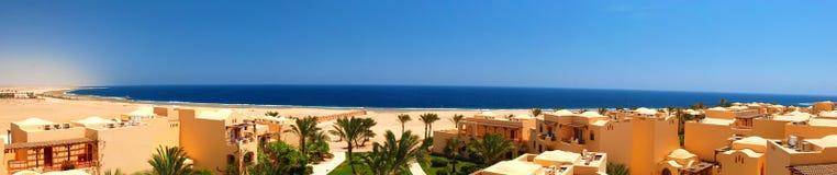 Het panorama van het hotel Stock Fotografie