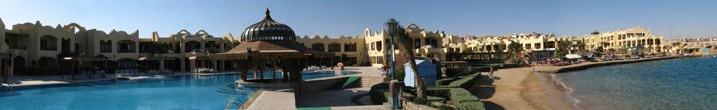 Het panorama van het hotel Royalty-vrije Stock Afbeeldingen