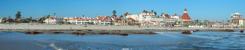 Het panorama van het Hotel van Coronado Royalty-vrije Stock Afbeeldingen