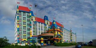 het panorama van het Hotelmaleisië van 18x36 Legoland Stock Fotografie