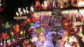 Het Panorama van het Kerstmishuis van Decoratie stock video