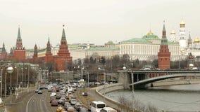Het panorama van het Kremlin stock videobeelden