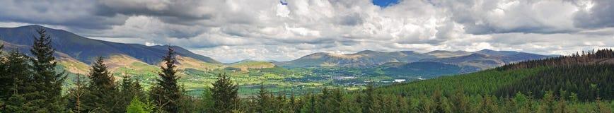 Het panorama van het landschap Stock Afbeeldingen