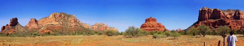 Het Panorama van het landschap - de Vallei van het Monument Stock Foto