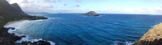 Het Panorama van het Makapuuvooruitzicht stock foto