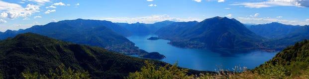 Het Panorama van het Meer van Como Royalty-vrije Stock Afbeeldingen