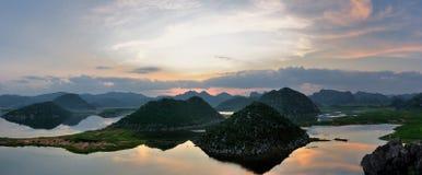 Het panorama van het moerasland Stock Afbeelding