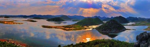 Het panorama van het moerasland Royalty-vrije Stock Afbeelding