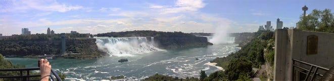 Het panorama van het Niagara Falls Stock Foto's