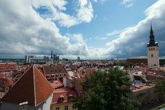 Het panorama van het onderzoek van Tallinn Stock Foto's