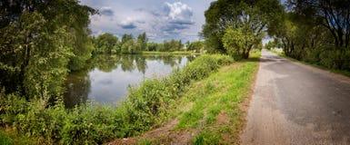 Het panorama van het platteland Royalty-vrije Stock Foto
