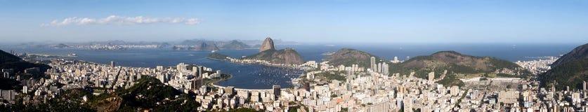 Het panorama van het Rio de Janeiro stock fotografie