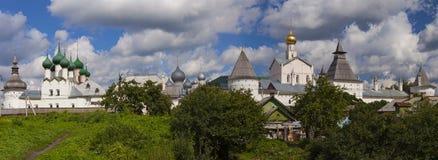Het panorama van het Rostovkremlin, Rusland Royalty-vrije Stock Foto's