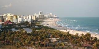 Het Panorama van het Strand van Miami Royalty-vrije Stock Afbeeldingen