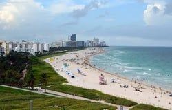 Het Panorama van het Strand van Miami Stock Fotografie