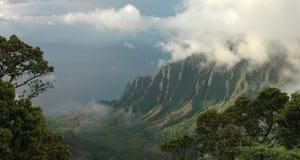 Het Panorama van het Vooruitzicht van Kalalau Stock Afbeelding