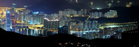 Het panorama van high-density woon Stock Afbeelding