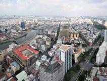 Het Panorama van Ho-Chi-Minh-Stad van het zuidwesten, Vietnam Stock Afbeeldingen