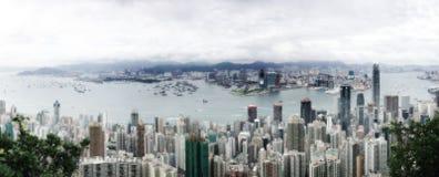 Het Panorama van Hongkong Stock Foto