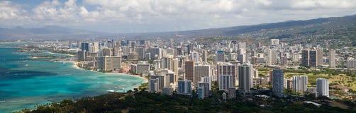 Het Panorama van Honolulu Stock Afbeelding
