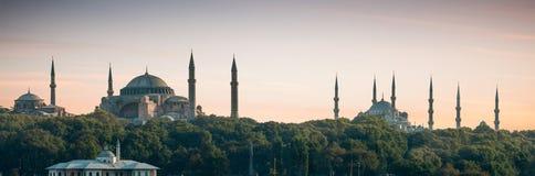 Het Panorama van Istanboel Stock Afbeeldingen