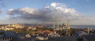 Het panorama van Istanboel Turkije Stock Afbeeldingen