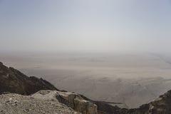 Het panorama van Jebelhafeet stock afbeelding