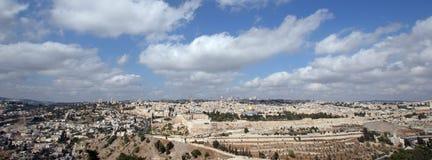 Het panorama van Jeruzalem Stock Afbeelding