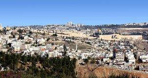 Het panorama van Jeruzalem Stock Afbeeldingen