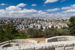 Het panorama van Jeruzalem Stock Fotografie