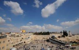 Het panorama van Jeruzalem Stock Foto