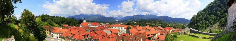 Het panorama van Kamnik stock foto's