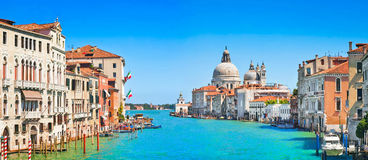 Het panorama van kanaalgrande in Venetië, Italië Royalty-vrije Stock Foto's