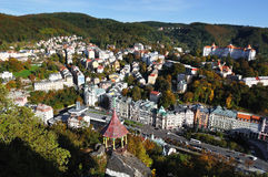 Het panorama van Karlovy vari?ërt. Tsjechische republiek Royalty-vrije Stock Afbeelding