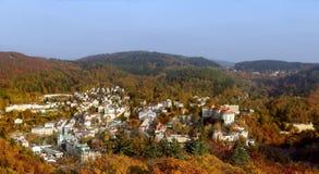 Het panorama van Karlovy vari?ërt, Tsjechische republiek Royalty-vrije Stock Foto's