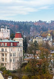 Het panorama van Karlovy varieert, Tsjechische republiek Stock Afbeelding