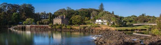 Het Panorama van Kerikeri Nieuw Zeeland van de steenopslag Stock Afbeelding