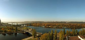 Het panorama van Kiev Stock Foto