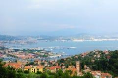 Het Panorama van La Spezia stock afbeeldingen