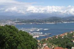 Het Panorama van La Spezia stock afbeelding