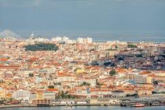 Het panorama van Lissabon Stock Afbeeldingen