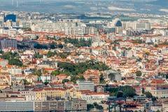 Het panorama van Lissabon Stock Fotografie