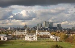 Het Panorama van Londen - het UK stock afbeelding